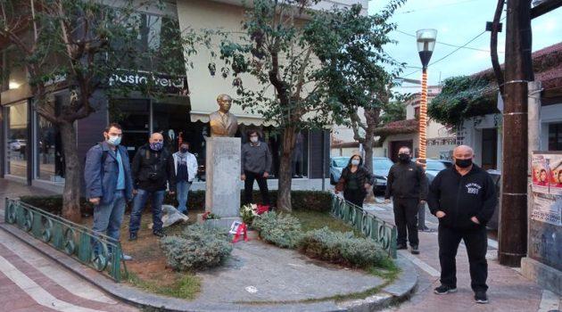 Το «Ανυπότακτο» τίμησε την επέτειο με κατάθεση στην προτομή Λαμπράκη