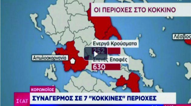 Στο «κόκκινο» η Αιτωλοακαρνανία: 252 ενεργά κρούσματα 630 στενές επαφές