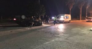 Παναιτώλιο Αγρινίου: Τροχαίο με ανατροπή οχήματος (Photos)