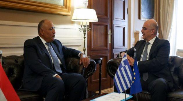 Επικοινωνία Δένδια-Αιγύπτιου ΥΠ.ΕΞ. για τις σχέσεις Ελλάδας-Αιγύπτου και την Ανατολική Μεσόγειο