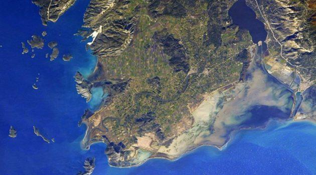 Ιάπωνας αστροναύτης φωτογραφίζει την Λιμνοθάλασσα Μεσολογγίου απ' το διάστημα!