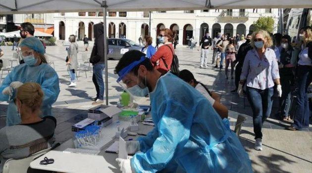 Πάτρα: Αρνητικά και τα 70 rapid tests από την πλατεία Γεωργίου
