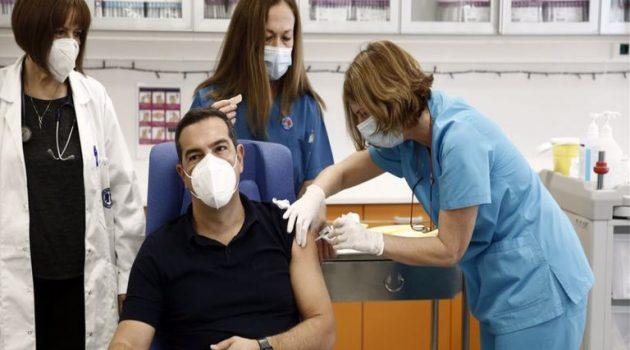 Εμβολιάστηκε ο Αλέξης Τσίπρας στον «Ευαγγελισμό»