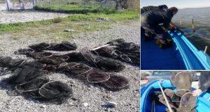 Λιμνοθάλασσα Ι.Π. Μεσολογγίου: Aφαίρεση του παράνομου είδους αλιείας των βολκών…