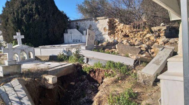 Σοκαριστικές εικόνες στο Κοιμητήριο Κατούνας – Άρχισαν να φαίνονται τα φέρετρα