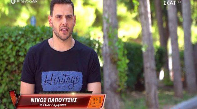«The Voice» – Νίκος Παπουτσής: Το μεγάλο φαβορί από την Άμφισσα (Photos)