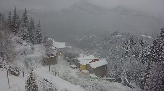 Στα λευκά «έντυσε» την ορεινή Ναυπακτία ο «Λέανδρος» (Videos – Photos)