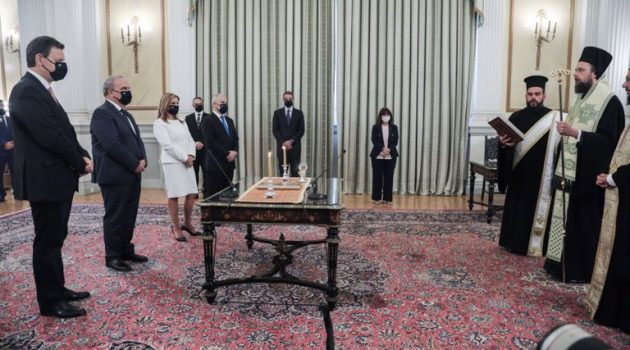Σε τρεις ομάδες η ορκωμοσία των νέων Υπουργών και Υφυπουργών της Κυβέρνησης