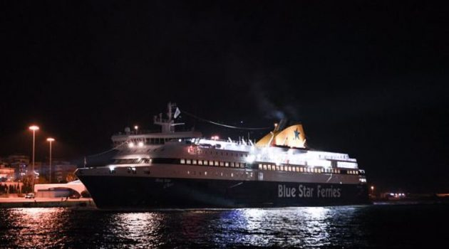 Εντυπωσιακή υποδοχή για το πρώτο πλοίο που «έδεσε» στον Πειραιά για το 2021 (Video)