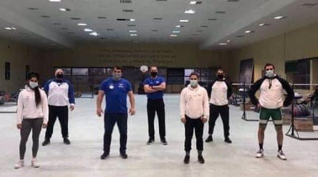 Ο Πύρρος Δήμας επισκέφτηκε την Προολυμπιακή Ομάδα Άρσης Βαρών (Photos)