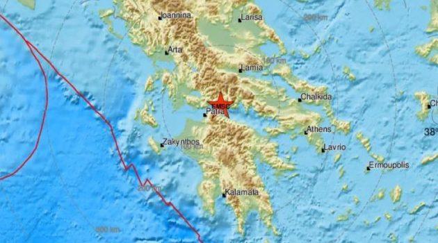 Νέα ισχυρή σεισμική δόνηση μεταξύ Αιγίου και Ναυπάκτου