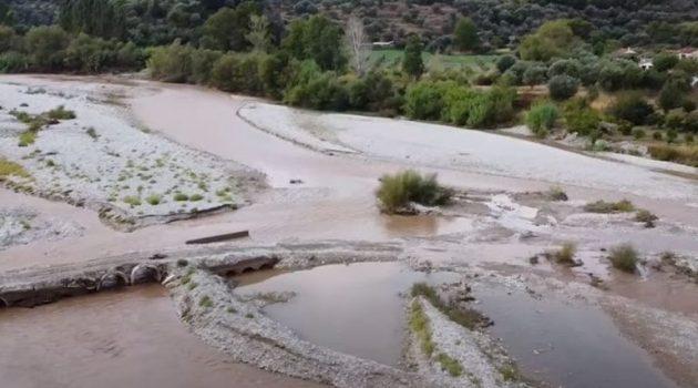 Τρίκορφο Ναυπακτίας: Ζημιές σε τμήμα των αντιπλημμυρικών έργων (Video)