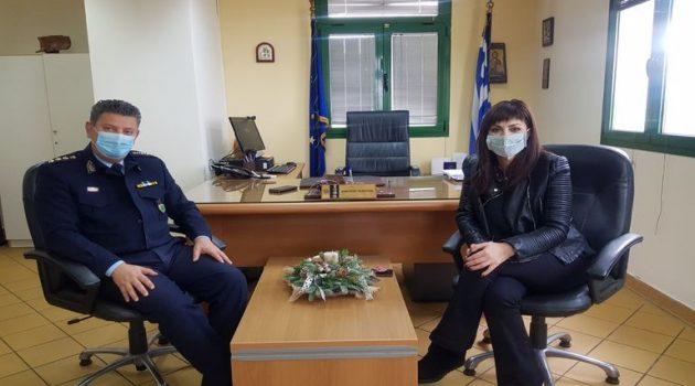 Επαφές με εκπροσώπους των Σωμάτων Ασφαλείας η Βοηθός Περ. Αγγελική Χαλιμούδρα (Photos)