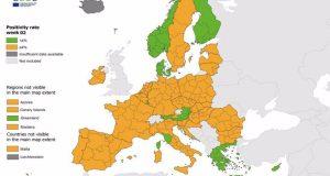 Ξανά «πράσινη» η Ελλάδα στον χάρτη του ECDC