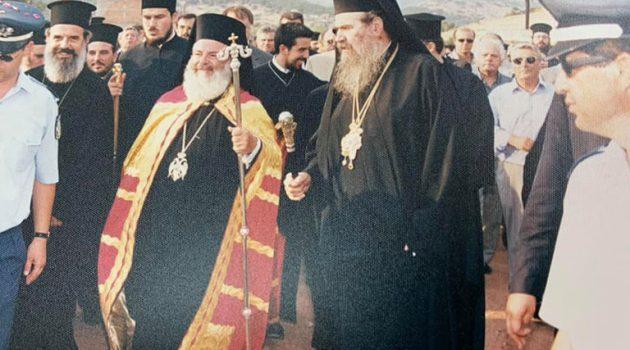 Θέρμο – 2001: Επίσκεψη Αρχιεπισκόπου Χριστόδουλου -13 χρόνια από την εκδημία του