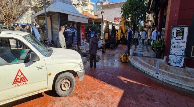 Αγρίνιο: Αποκαταστάθηκε η βλάβη – Επανέρχεται η υδροδότηση (Photos)