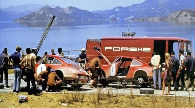 Σπάνια έγχρωμη φωτογραφία: Η «Porsche» στα «Κρεμαστά», το 1969