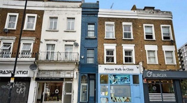 Το στενότερο σπίτι του Λονδίνου πωλείται 1,1 εκατ. ευρώ