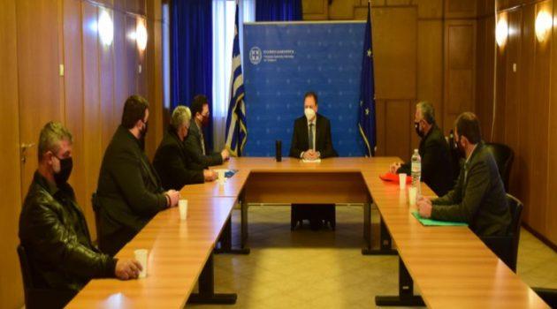 Συνάντηση Σπ. Λιβανού με την Οργάνωση Αμπελουργών – Ελαιοπαραγωγών Κρήτης