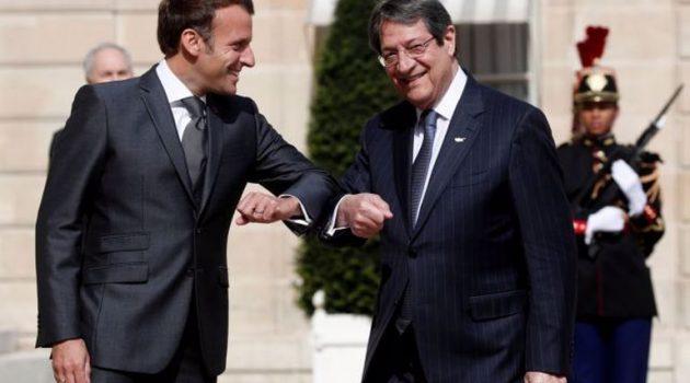 Συνομιλία για Κυπριακό και Αν. Μεσόγειο είχαν Αναστασιάδης – Μακρόν