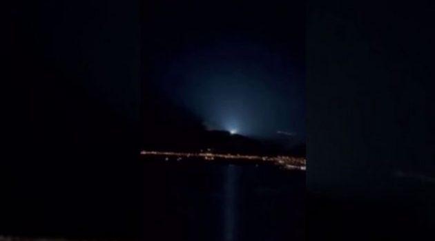 Ναύπακτος: Νέο βίντεο από την περίεργη λάμψη της Κυριακής στην Πάτρα