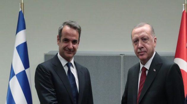 Το παραλήρημα Ερντογάν και η απάντηση Μητσοτάκη: «Όποιος οξύνει δεν έχει το δίκιο με το μέρος του»