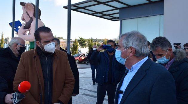 Ν. Φαρμάκης: «Καταβολή μέρους αποζημίωσης σε ιδιοκτήτες και οδηγούς ταξί» (Photos)