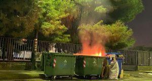 Αγρίνιο: Μια ακόμη φωτιά σε κάδο απορριμμάτων