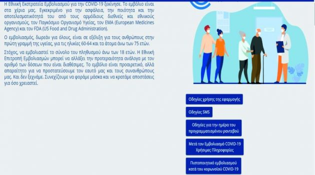 emvolio.gov.gr: Με λίγα κλικ εκδίδει πιστοποιητικό εμβολιασμού