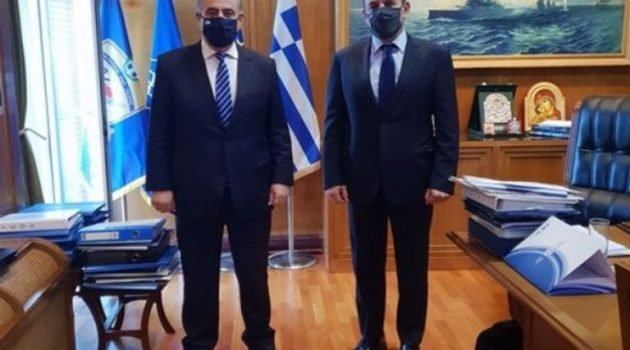 Συνάντηση Θ. Καββαδά με τον Υπ. Εθνικής Άμυνας Νίκο Παναγιωτόπουλο