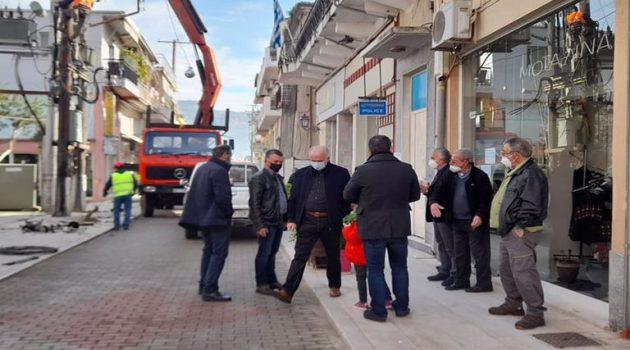Κώστας Λύρος: «Υπογειοποίηση στον κεντρικό δρόμου του Αιτωλικού» (Photos)