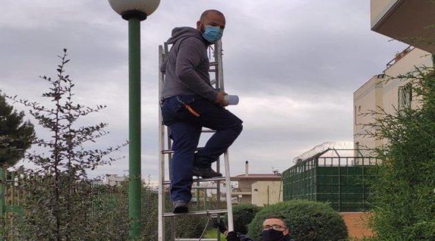 Αγρίνιο: Αντικατάσταση των λαμπτήρων του περιβάλλοντος χώρου του Αστυνομικού Μεγάρου