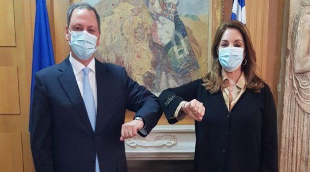 Συνάντηση Λιβανού με την πρόεδρο του Ε.Ο.Τ. Άντζελα Γκερέκου
