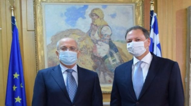 Συνάντηση του Σπήλιου Λιβανού με τον Πρεσβευτή του Ισραήλ στην Ελλάδα