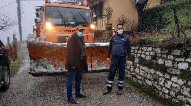 Ορεινή Ναυπακτία: Συνεχίζονται οι εκτεταμένοι καθαρισμοί στο οδικό δίκτυο (Photos)