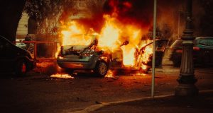 Κάηκε αυτοκίνητο στην Ιόνια στο ύψος του Μεσολογγίου