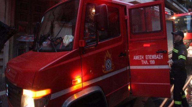 Κινητοποίηση της Πυροσβεστικής για φωτιά στο δρόμο Κατούνα-Λουτράκι