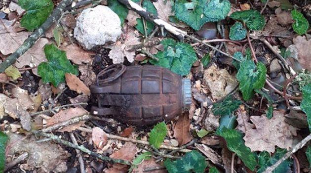 Εντοπίστηκε χειροβομβίδα στο βελανιδοδάσος Ξηρομέρου (Photos)