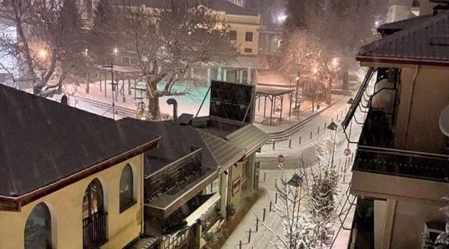 Δείτε βίντεο από το χιόνι στο Καρπενήσι
