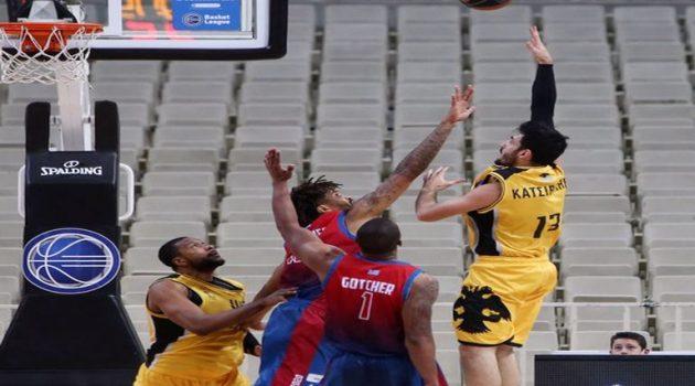 Basket League: Εμφατική νίκη της Α.Ε.Κ. με 98-76 επί του Χαρίλαου Τρικούπη