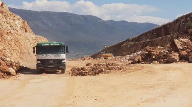 Συνεχίζονται τα έργα στο δρόμο Άκτιο-Αμβρακία (Photos)