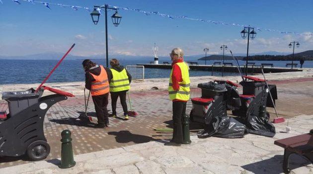 Ο Δήμος Ακτίου – Βόνιτσας «καλλωπίζεται» για την 25η Μαρτίου (Photos)