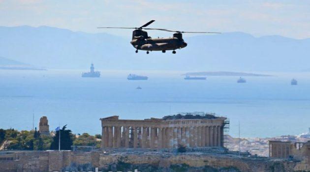 Εντυπωσιακές εικόνες από τις δοκιμαστικές πτήσεις μαχητικών στον ουρανό της Αθήνας