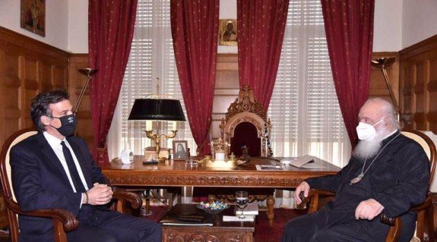 Ο Πρόεδρος του Ε.Ο.Δ.Υ. συναντήθηκε με τον Αρχιεπίσκοπο Ιερώνυμο (Photos)
