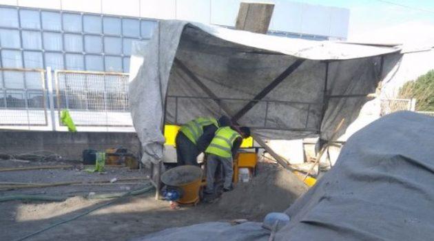 Συνθήκες γαλέρας σε εργοτάξιο στην Πάτρα (Photo)