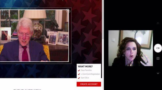 Η Κατερίνα Κιτσάκη σε διαδικτυακή εκδήλωση με τον Μπιλ Κλίντον