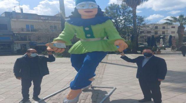 Τοποθέτηση καρναβαλικών μπαστάκων σε Αγρίνιο και Μεσολόγγι (Photos)