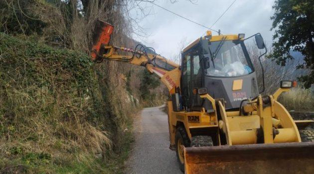 Ορεινή Ναυπακτία: Καθαρισμοί στο οδικό δίκτυο (Photos)