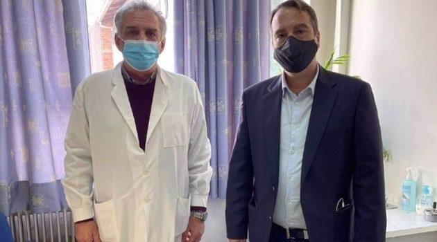 Επίσκεψη Θανάση Παπαθανάση στο Κέντρο Υγείας Αγρινίου