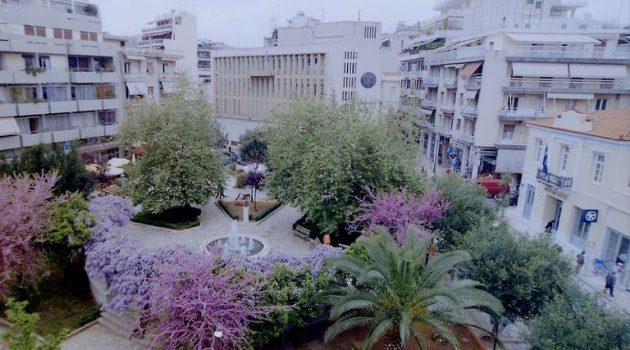 Αγρίνιο: Η Πλατεία Παναγοπούλου (Συντριβάνι) την άνοιξη (Photos)